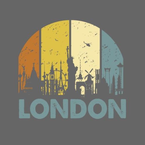 Vintage London Souvenir - Retro Skyline London - Männer Premium T-Shirt