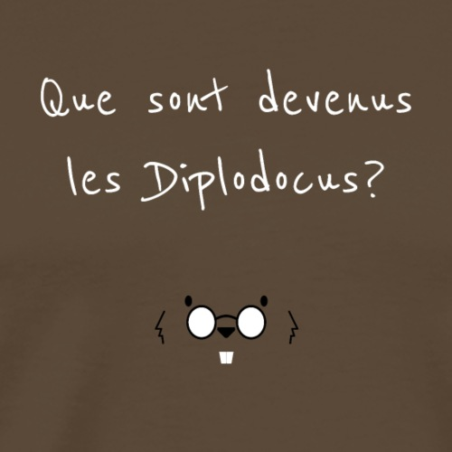 Que sont devenus les Diplodocus ? - T-shirt Premium Homme
