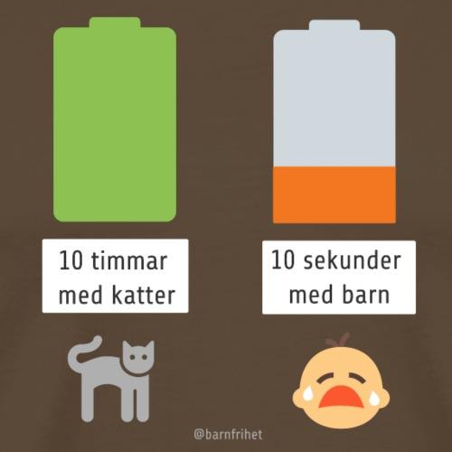 Livsbatteriet KATT - Premium-T-shirt herr
