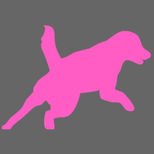 Apportering till vardag och fest rosa hund - Premium-T-shirt herr
