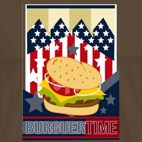 BURGUERTIME - Camiseta premium hombre