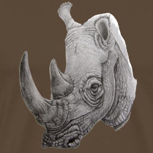 rhino - Herre premium T-shirt