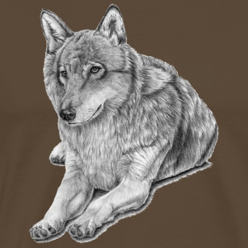 Grey Wolf - Herre premium T-shirt