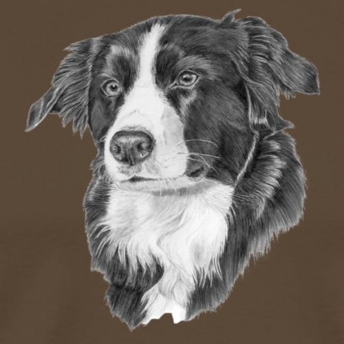 border collie 1 - Herre premium T-shirt