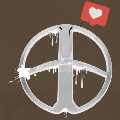 One Love One Zim   White - Männer Premium T-Shirt