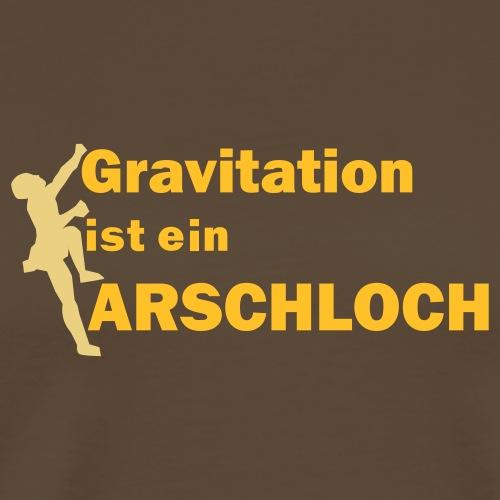 Gravitation Arschloch - Männer Premium T-Shirt