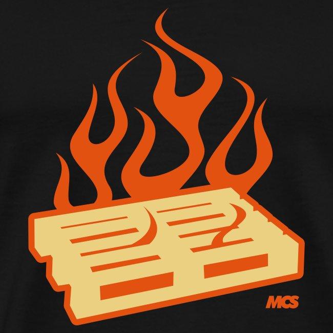 Brennende Palette -Buring pallets