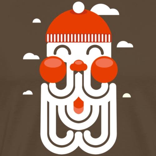 HAPPY hipster SANTA - Mannen Premium T-shirt