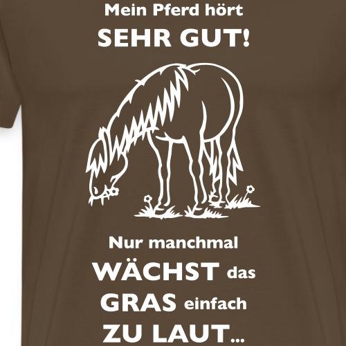 Lautes Gras - Männer Premium T-Shirt