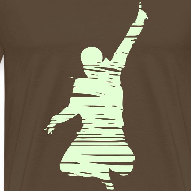 Jumping Man Schraffur