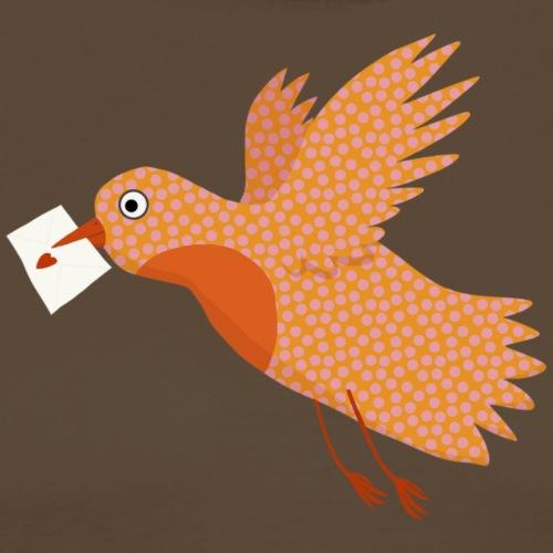 Vogel mit Brief - Männer Premium T-Shirt