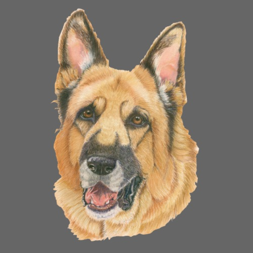 german shepherd color - Herre premium T-shirt