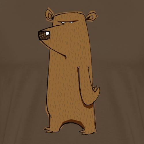 Divertente fumetto scontroso orso odio lunedì - Maglietta Premium da uomo