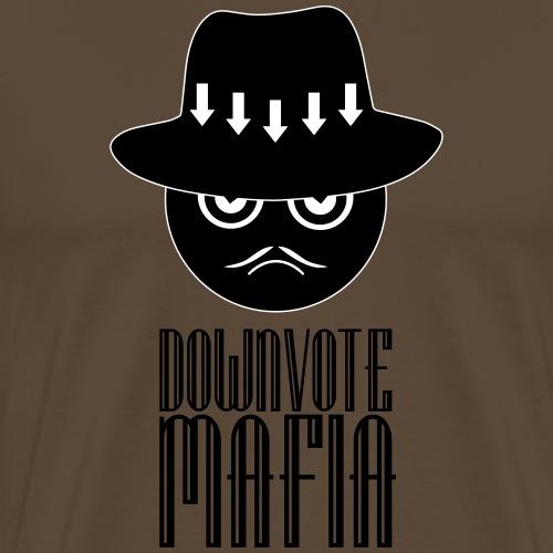 Downvote-Mafia (schwarzer Print) - Männer Premium T-Shirt