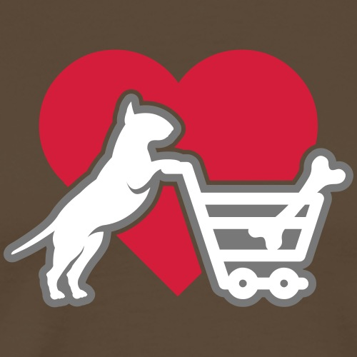 Shopping Bullterrier LOVE 3c - Männer Premium T-Shirt