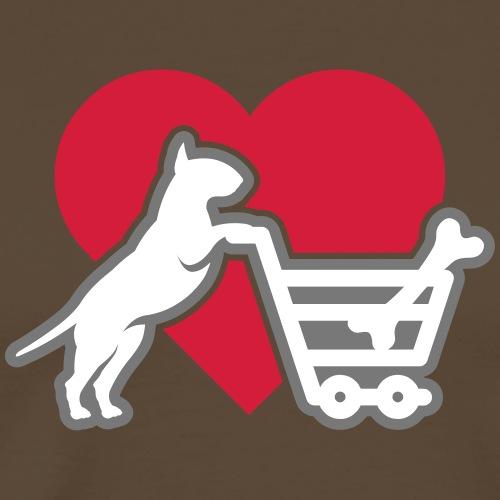 Shopping Bullterrier LOVE 3c - Männer Premium T-Shirt