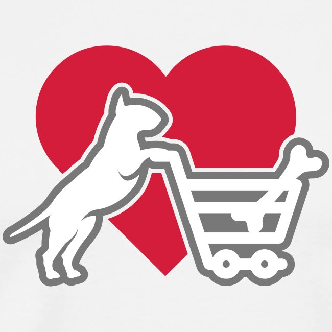 Shopping Bullterrier LOVE 3c