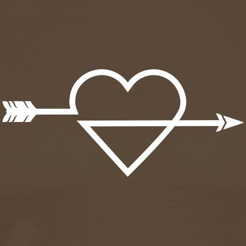 Arrow Heart Icon (Bogenschießen by BOWTIQUE) - Männer Premium T-Shirt