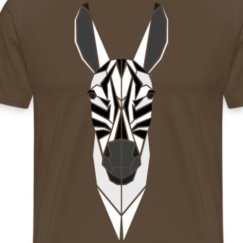 Polygon Zebra - Männer Premium T-Shirt