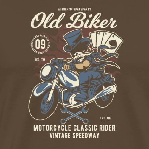 Vieux motard - T-shirt Premium Homme