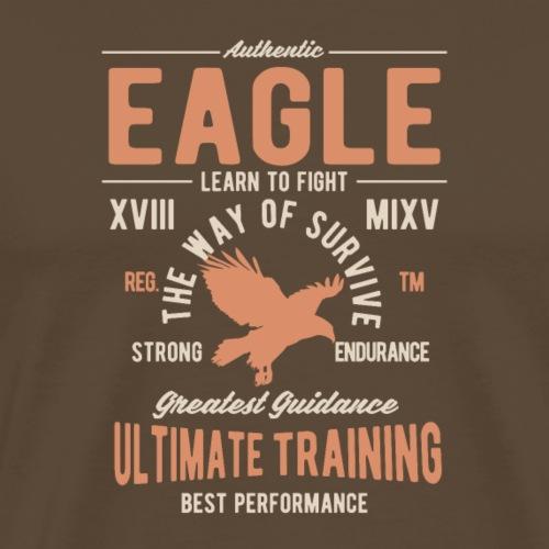 Authentischer Adler - Männer Premium T-Shirt