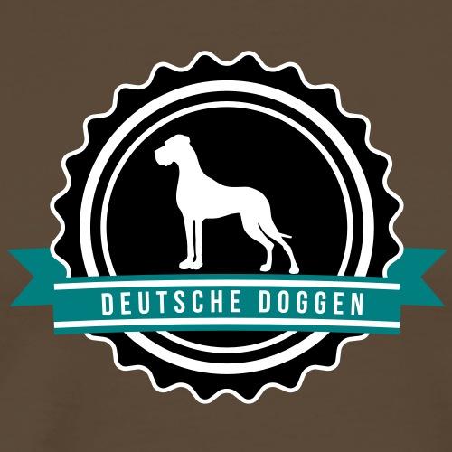 Label Doggen rundstempel - Männer Premium T-Shirt