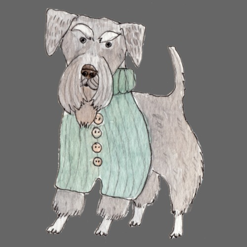 schnauzer with sweater - Herre premium T-shirt