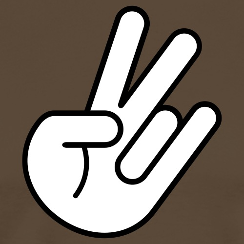 JDM Peace Hand 2c - Men's Premium T-Shirt