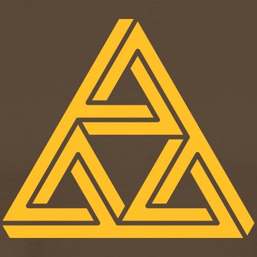 impossible triangle Dreieck Geek Geometrie Hipster - Men's Premium T-Shirt