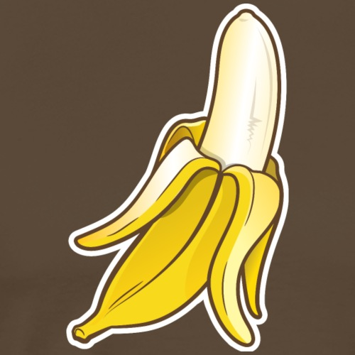 Fresh Peeled Banana - Mannen Premium T-shirt