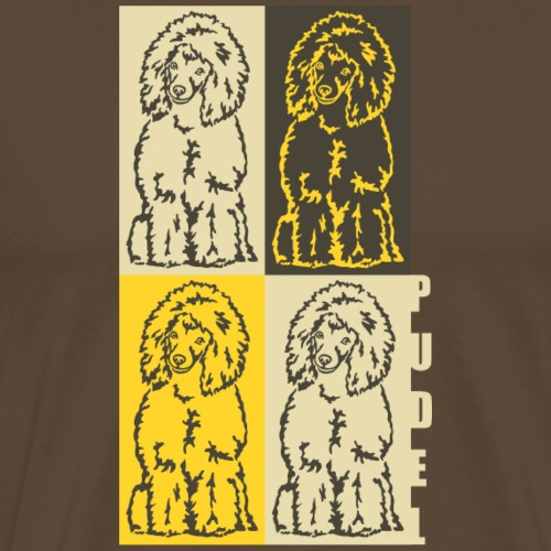 Pudel - Vintage - Pudelek / Poodle - Koszulka męska Premium