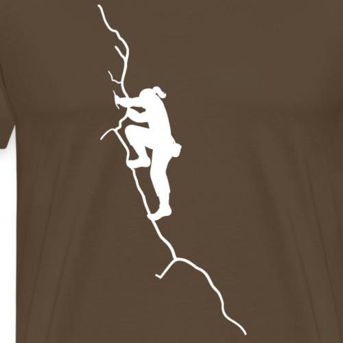 Kletter-Girl, weiß, 4 - Männer Premium T-Shirt
