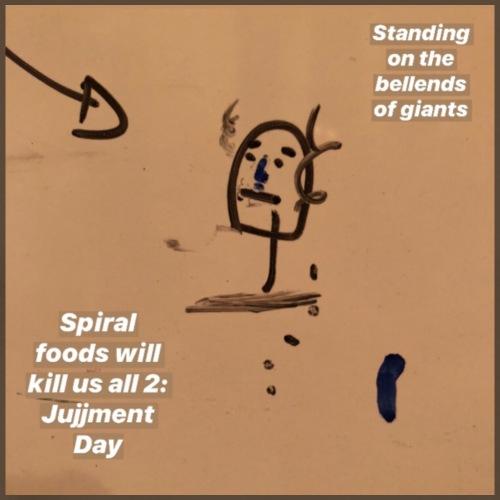 Spiral Foods Will Kill Us All 2: Jujjment Day - Men's Premium T-Shirt