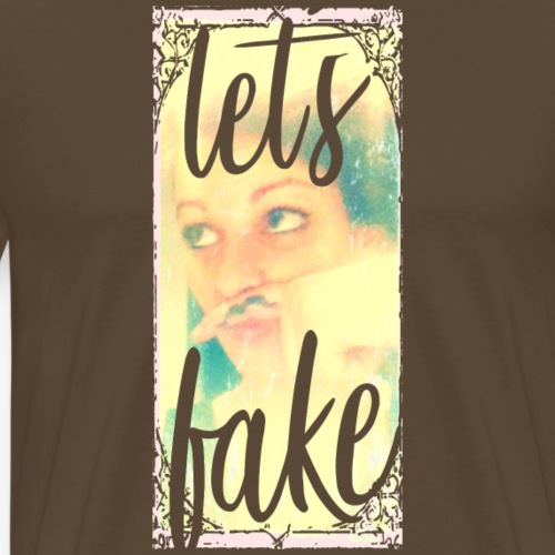 lets fake - Männer Premium T-Shirt