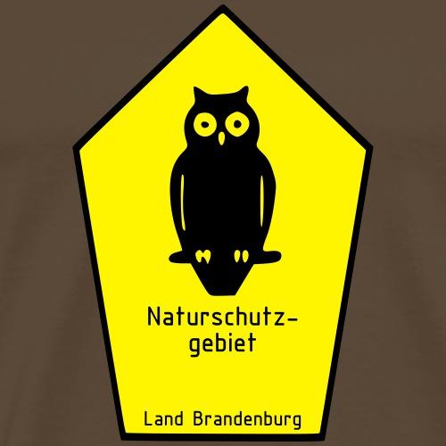 Naturschutzgebiet Land Brandenburg / Eule - Männer Premium T-Shirt