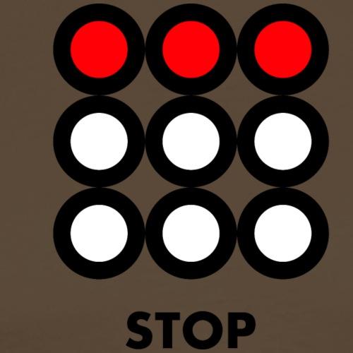 Stop. Vedi anche i motivi Wait e Go! - Maglietta Premium da uomo