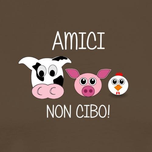 AMICI NON CIBO Scritta bianca - Camiseta premium hombre