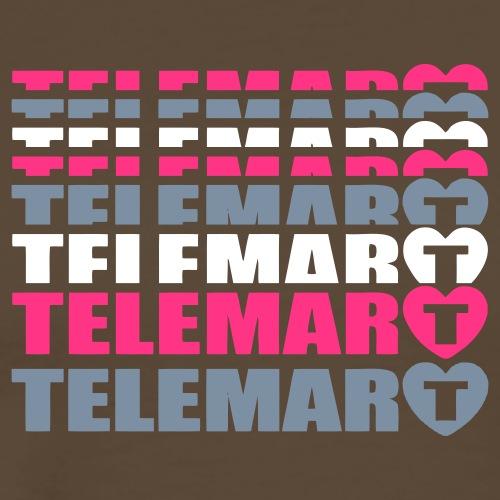 Telemarcoeur Oldschool - T-shirt Premium Homme