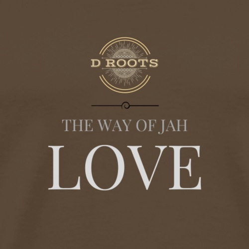 DRoots Way of Jah Love - Premium-T-shirt herr