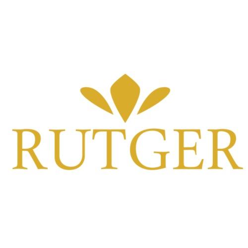 Rutger Logo Gold - Premium T-skjorte for menn