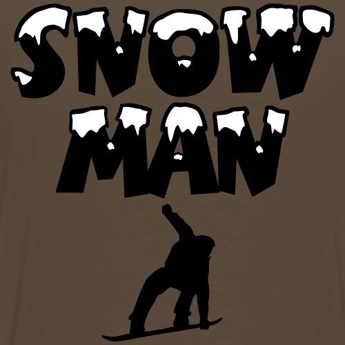 Snowman Snowboard Snowboarder - Männer Premium T-Shirt