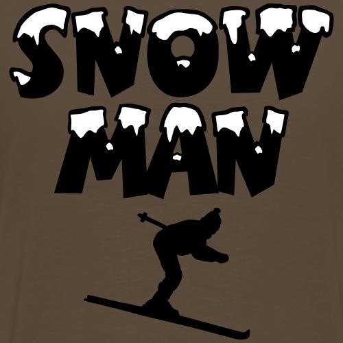 Snowman Ski Skifahren Skifahrer - Männer Premium T-Shirt