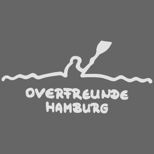 Logo OverfreundeHamburg Weiß   Groß - Männer Premium T-Shirt