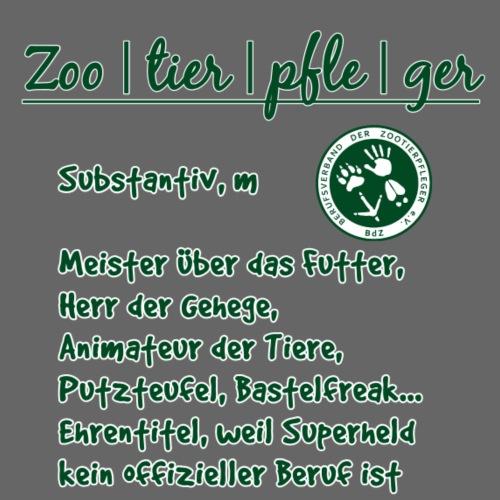 Zootierpfleger, Begriff - Männer Premium T-Shirt