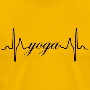 Yoga heartbeat ECG - Men's Premium T-Shirt