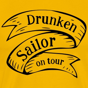 Drunken Sailor på turné - Premium T-skjorte for menn