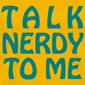 Talk Nerdy To Me - Vector - Men's Premium T-Shirt