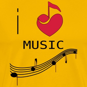 I_LOVE_MUSIC - Men's Premium T-Shirt