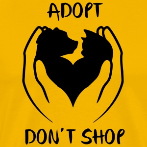 Adopt don't shop - Men's Premium T-Shirt