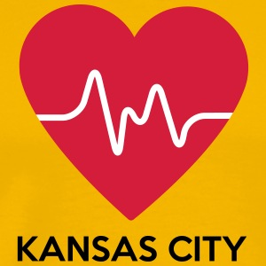 Heart Kansas City - Herre premium T-shirt
